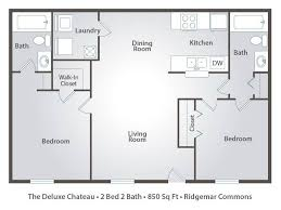 chateau floor plans 2 bedroom apartment floor plans pricing ridgemar commons