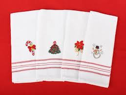 christmas towels embroidered kitchen tea towel kitchen towels kitchen