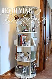 Space Saver Bookcase Decorating Breathtaking Revolving Bookcase For Charming Home