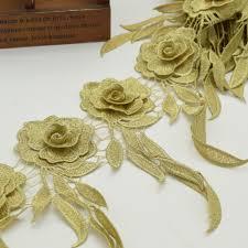 gold lace ribbon 10yards flower lace vintage gold lace trim braid ribbon applique