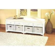 entryway furniture storage entryway cabinet storage oxford white 4 basket storage bench