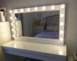 full length mirror with light bulbs lighted mirror etsy