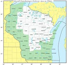 Wisconsin Counties Map by Merrill Distributing Inc