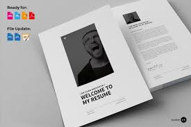 Resume Indesign Template 12 Pages Minimal Resume Cv Resume Templates Creative Market