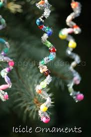 How To Make Christmas Ornaments Out Of Beads - bead and pipecleaner icicle ornaments happy hooligans ornament