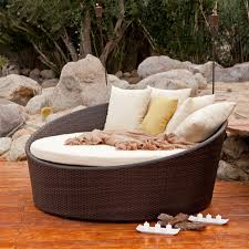 modern elegant round chaise lounge sofa outdoor