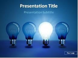 blue free light bulbs light bulb powerpoint template download free idea light bulbs in a