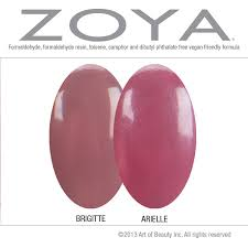 zoya nail polish in odette and charity compared color