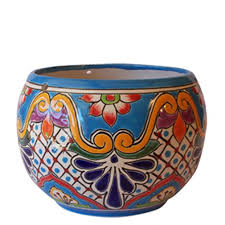 Handmade Mexican Pottery - i the colours in these pots they d be on my window