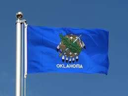 Flag Of Oklahoma Oklahoma Flagge 60 X 90 Cm Flaggenplatz At