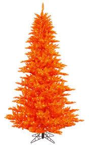 orange artificial trees