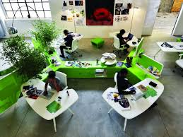 Office Workspace Design Ideas 56ae4 Extraordinary Workspace System Green Office Desks White
