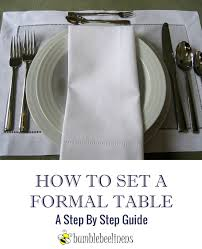 how to set a formal table to set a formal table