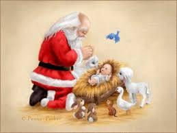 santa and baby jesus keeping in christmas baby jesus baby jesus pictures and