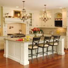 Victorian Style Kitchen Cabinets Gorgeous Kitchen Room Design With Luxurious Twin Chandelier And