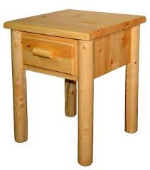 Rustic Pine Nightstand Pine Log Nightstand W Drawer Colorado Pine Log Furniture