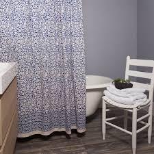 India Shower Curtain Indigo Chain Pattern Shower Curtain Batik India Free Shipping