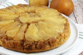 skillet pear upside down cake recipe