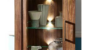 gent wohnzimmerschrank in akazie dunkel inkl led