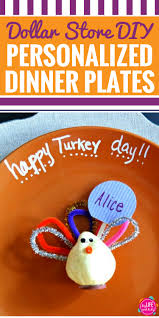 diy dollar store personalized thanksgiving plates my life and kids