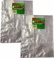 9 pocket pages trading card album binder plastic protector pages sleeves 9 pocket