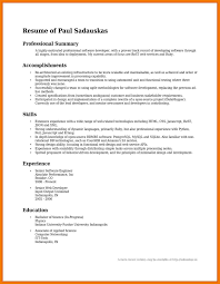 career resume exles summary resume exles summary of accomplishments exles for post