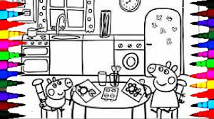 peppa pig coloring book pages kids fun art activities videos