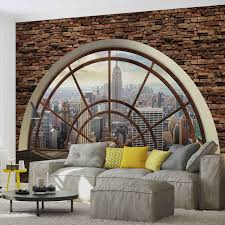 new york city skyline window photo wallpaper mural 2397wm city new york city skyline window photo wallpaper mural 2397wm