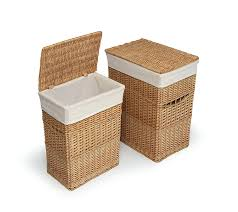 amazon com badger basket two hamper set with liners white