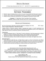 Computer Resume Computer Software Entry Level Resume Samples Vault Com