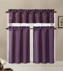 Double Swag Shower Curtain With Valance Interesting Stylish Purple Bathroom Window Curtains Burgundy
