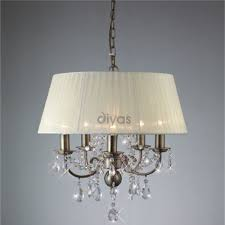 Chandelier Lights Uk by Diyas Uk Olivia Il Il30048 Antique Brass Crystal Five Light