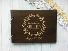 engravable wedding guest book personalised wedding guest book names wooden guestbook alternative