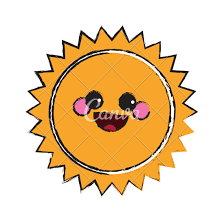 kawaii sun sketch icons by canva