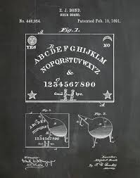 patent 1891 ouija board art print game room art victorian