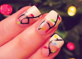 christmas lights nail art designs ideas u0026 stickers 2014 xmas