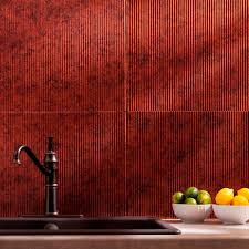 Decorative Backsplash Fasade 24 In X 18 In Traditional 6 Pvc Decorative Backsplash
