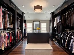 interior clothes dressing area recessed lights wallpaper beige