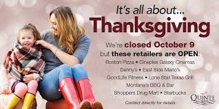 quinte mall on to celebrate thanksgiving we will be