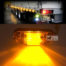 wholesale 12v 24v truck signal light 2 led side marker blinker