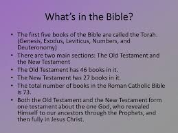 the bible what s in the bible the five books of the bible
