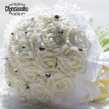 artificial flower bouquets kyunovia wedding bridal bouquet pe artificial flower bouquets
