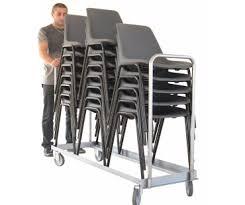 chaises pliables chariot porte chaises pliables ou empilables 150 kg clic epi 2017