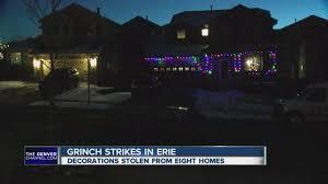 grinch christmas lights grinch steals laser christmas lights in erie denver7