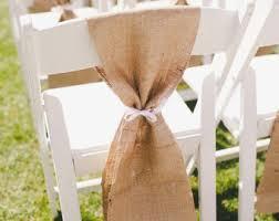 burlap chair sashes chair sash rustic wedding chair sash burlap chair sash