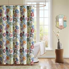 amazon com mi zone tamil shower curtain green blue u0026 red