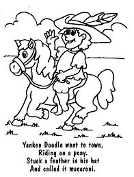 Yankee Doodle Rhyme Letter Y Activities Pinterest School Yankee Doodle Coloring Page 2