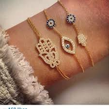 evil eye hand bracelet images Mini hamsa hand and mini eye bracelet lucky eyes miami no30 jpg