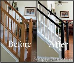 Banisters Painting Our Banister Simply Domestic Did It Pinterest