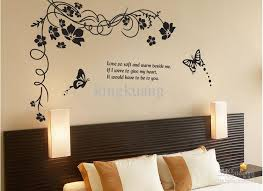 Large Wall Stickers For Living Room by Black Butterfly Plane Wall Stickers Tv Backdrop Decoration